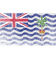 Flag of British Indian Ocean Territory with old vector image