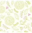 floral summer background vector image vector image