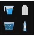 Four modern flat bar icons