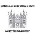 garden kingdom of dessau-worlitz saxony-anhalt vector image vector image
