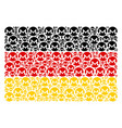 germany flag collage of monero currency items vector image vector image
