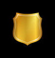 gold shield shape icon 3d golden emblem sign vector image vector image
