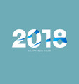 happy new year 2018 text design design for vector image