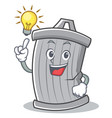 have an idea trash character cartoon style vector image vector image