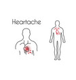 heartache linear icon young man vector image