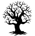 hollow tree silhouette vector image