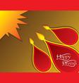 indian big festival diwali poster design vector image vector image