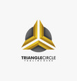 logo triangle with circle gradient colorful style vector image