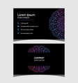 mandala luxury double sided business card vector image vector image
