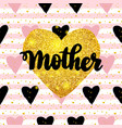 mother postcard design vector image vector image