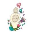 Perfume bottle with flower patterns vector image