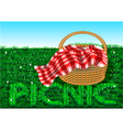picnic vector image vector image