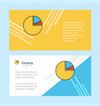 pie chart abstract corporate business banner vector image vector image