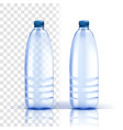 plastic bottle healthy natural bluer vector image vector image