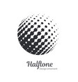 pop art halftone logo circles set vector image vector image