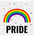 pride gay logo with rainbow vector image