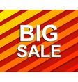 Red striped sale poster with BIG SALE text vector image vector image