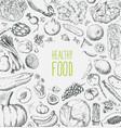 restaurant organic natural vegan food menu set vector image vector image
