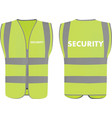 security safety vest vector image vector image