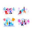 set bundle children playing vector image vector image