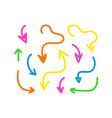 set collection thick neon colors arrows vector image vector image