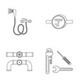 shower faucet water meter and other equipment vector image vector image