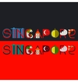 Singapore title with vector image