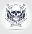 sketch french skull vector image vector image