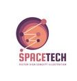 space tech - logo template concept vector image