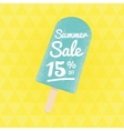 Summer Sale 15 per cent off vector image vector image
