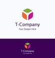 T company logo vector image vector image