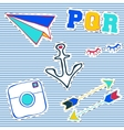 T-shirt patch badge vector image vector image