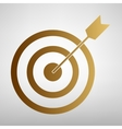 Target with dart Flat style icon vector image vector image