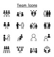 teamwork team people icons set graphic design vector image