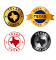 texas badges gold stamp rubber band circle vector image