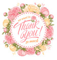 thank you message with peony vector image vector image