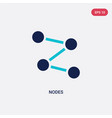 two color nodes icon from content concept vector image vector image