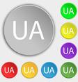 Ukraine sign icon symbol UA navigation Symbols on vector image vector image