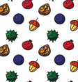 Vintage nuts berry fruits seamless pattern vector image vector image