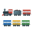 Vintage Retro Transportation Train vector image