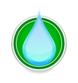 water drop blue color sign on the white vector image vector image