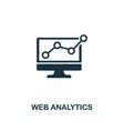 web analytics icon premium style design from vector image vector image