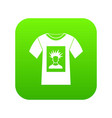 white shirt with print of man portrait icon vector image