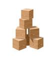wooden realistic blank bricks building vector image vector image