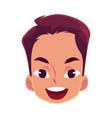 young man face wow facial expression vector image vector image