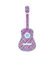 Guitar scribbled vector image