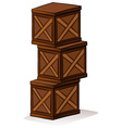A pile of crates vector image