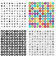 100 team icons set variant vector image vector image