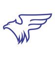 abstract eagle fly icon logo concept design vector image vector image
