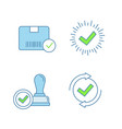 approve color icons set vector image vector image